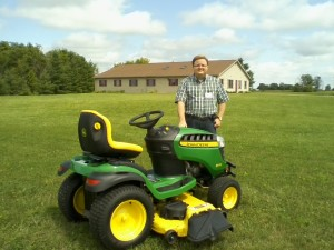 Ian with Tractor
